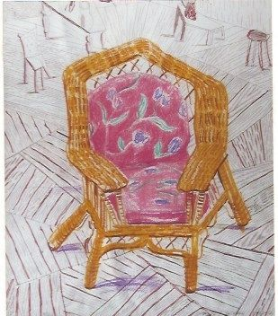 Serigrafía Hockney - Number one chair