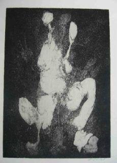 Aguafuerte Gillet - Nymphe des rats