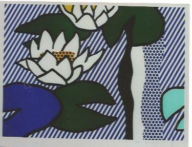 Litografía Lichtenstein - Nympheas - Water Lilies