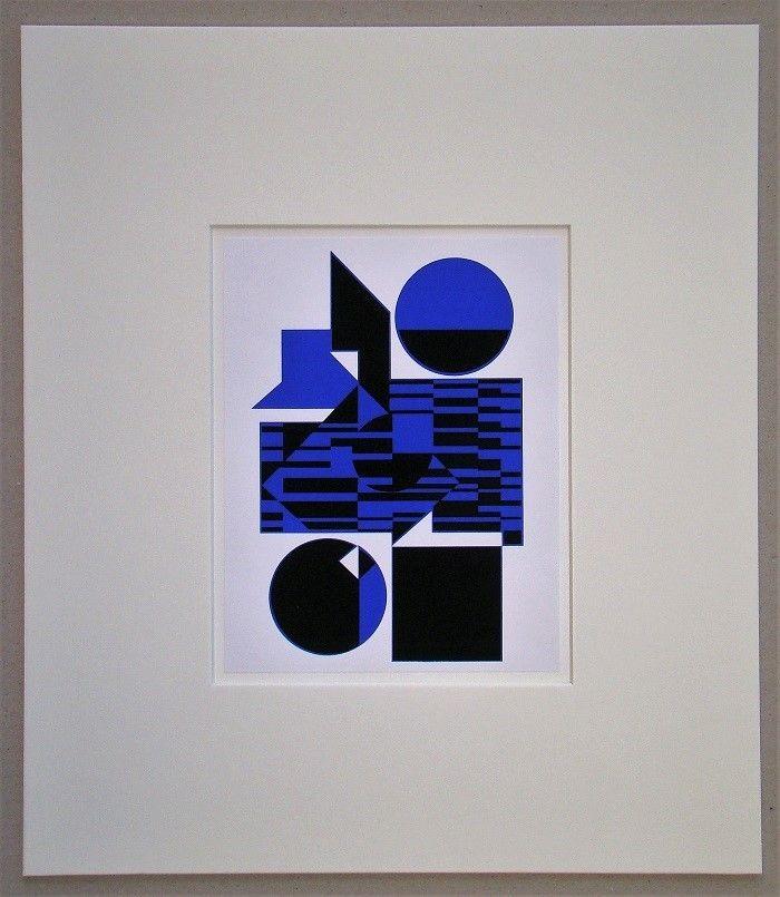 Serigrafía Vasarely - OB - 1956