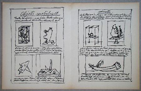 Litografía Giacometti - Objets Mobiles
