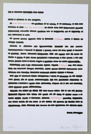 Litografía Isgro - Obliquo