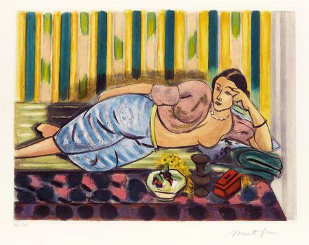 Aguatinta Matisse - Odalisque au Coffret Rouge (Odalisque with Red Box)