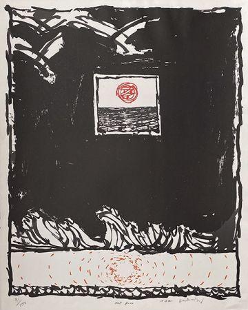 Litografía Alechinsky - Oeil fixe