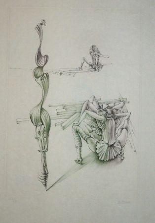 Aguafuerte Y Aguatinta Bellmer - Oeillades ciselées 11