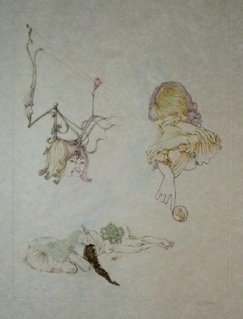 Aguafuerte Y Aguatinta Bellmer - Oeillades ciselées 9