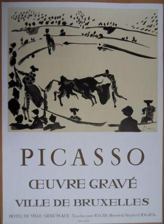 Litografía Picasso - Oeuvre Gravé - Bruxelles 1973