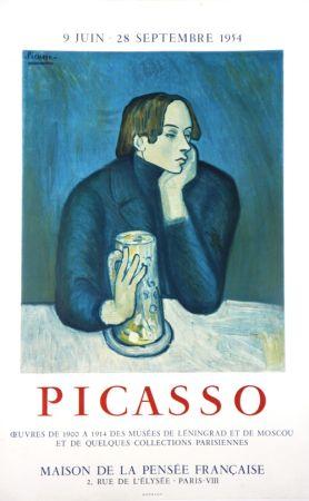 Litografía Picasso - Oeuvres des Musées de Leningrad et Mouscou