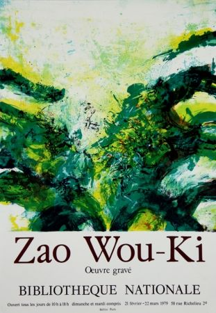 Litografía Zao - Oeuvres Gravees Bibliotheque Nationale