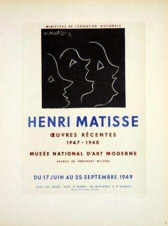 Litografía Matisse - Oeuvres Recentes Musée D'Art Moderne