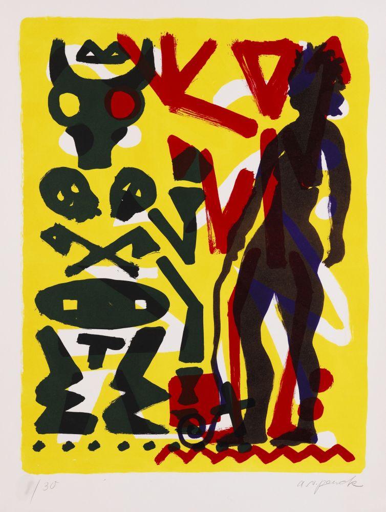 Litografía Penck - Ohne Titel