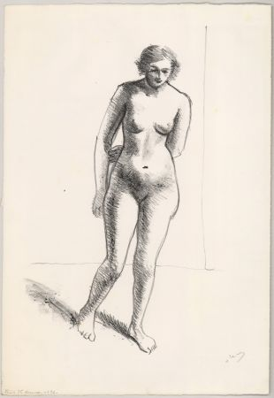 Litografía Derain - Ohne Titel (Nu, le bras replié derrière le dos)