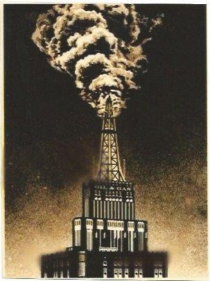 Serigrafía Fairey - Oil & Gas Building