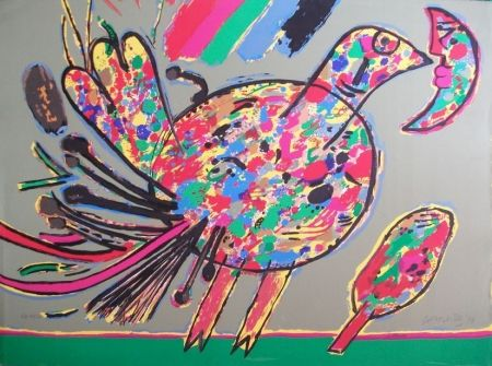 Litografía Corneille - Oiseau