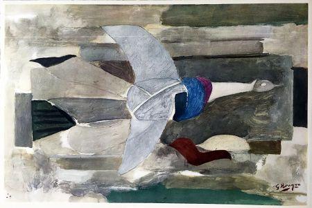 Heliograbado Braque - Oiseau en vol (1953)