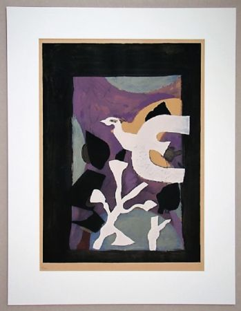 Litografía Braque - Oiseau Et Lotus
