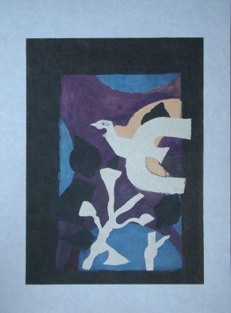 Litografía Braque - Oiseau et Lotus. Avant La Lettre