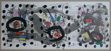 Litografía Miró - Oiseau solaire, oiseau lunaire, étincelles