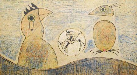 Litografía Ernst - Oiseaux / Birds