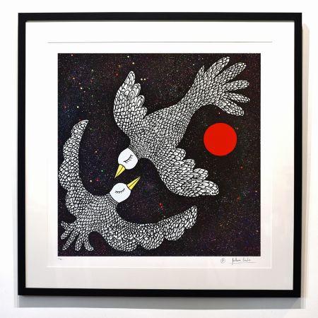 Estampa Numérica Cavalier - ''Oiseaux Célestes ''