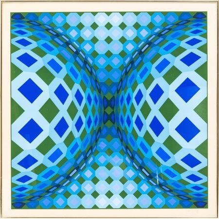 Litografía Vasarely - OKTA - CHEYT