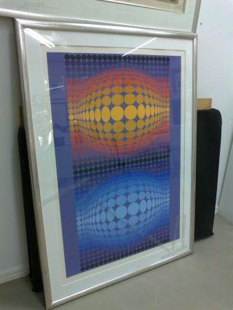 Serigrafía Vasarely - Oltar Zoeld