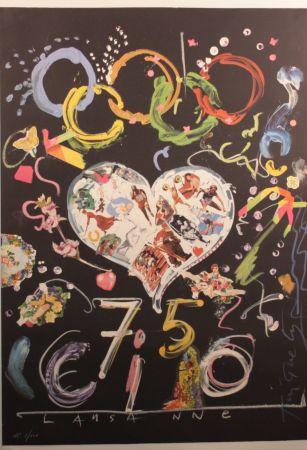 Litografía Tinguely - Olympic Centennial