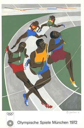 Serigrafía Lawrence - Olympische Spiele München 1972 (The Runners)