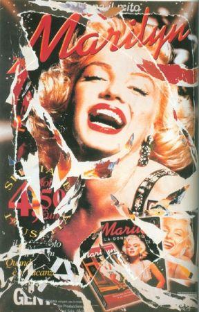 Serigrafía Rotella - Omaggio a Marilyn (A Tribute to Marilyn) I