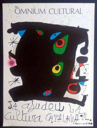 Cartel Miró - Omnium Cultural - Ja ajudeu la cultura catalana