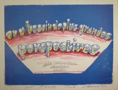 """Offset Hockney - """"on a besoin de plus grandes perspectives / wider perspectives are needed now"""""""