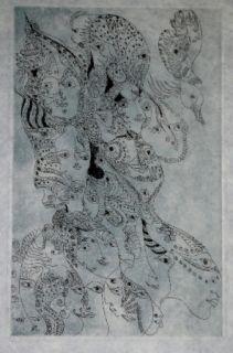 Grabado Zurn - Oracles et spectacles