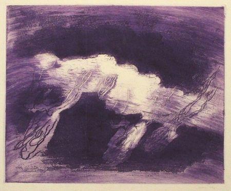 Aguatinta Fautrier - Orage violet