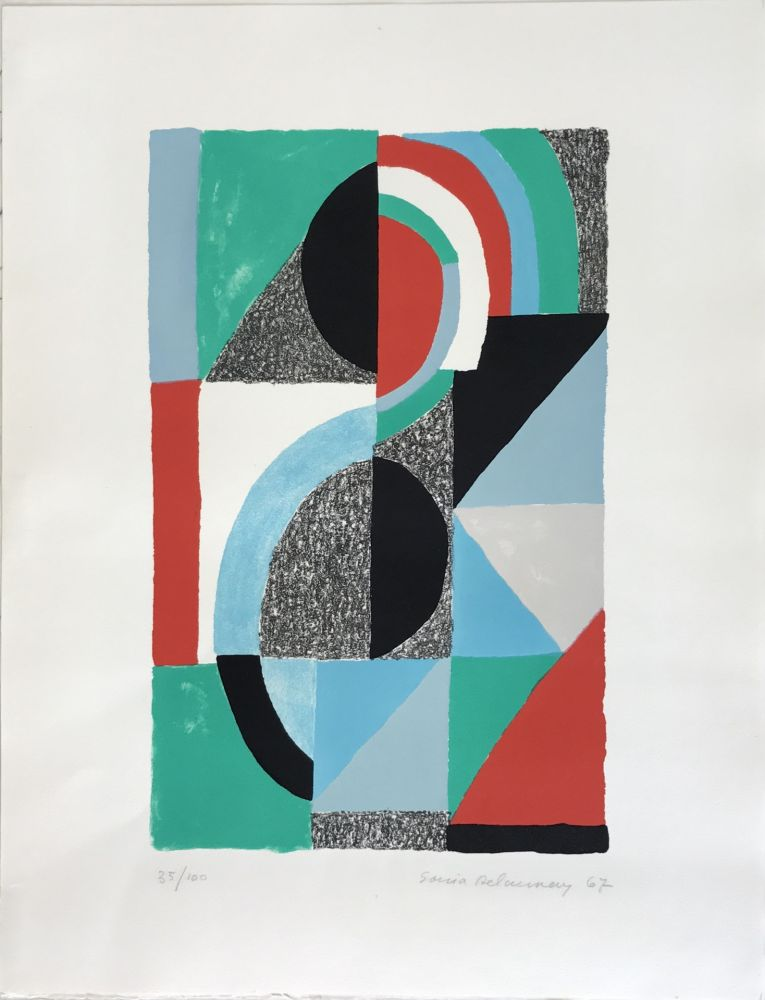 Litografía Delaunay - Oriflamme 1967