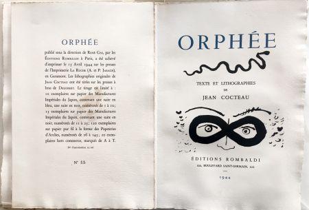 Libro Ilustrado Cocteau - ORPHÉE. avec 41 LITHOGRAPHIES ORIGINALES DE JEAN COCTEAU (1944)