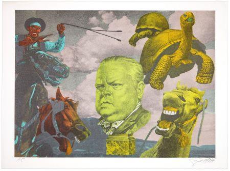 Litografía Erro - Orson Welles