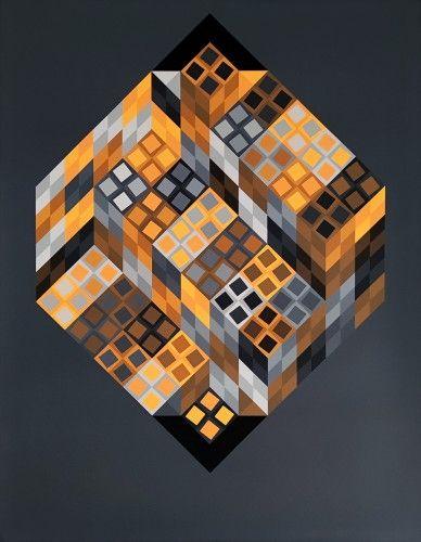 Múltiple Vasarely - Orvar,