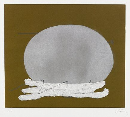 Grabado Tàpies - Oval i blanc