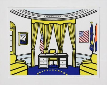 Serigrafía Lichtenstein - Oval Office