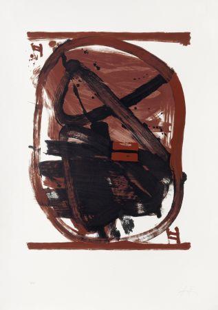 Litografía Tàpies - Ovale rouge et noir