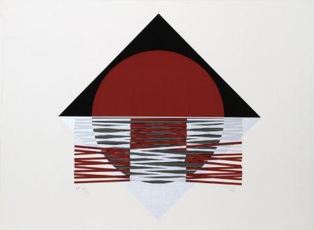 Serigrafía Soto - Ovalo Rojo
