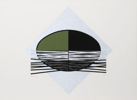 Serigrafía Soto - Ovalo Verde