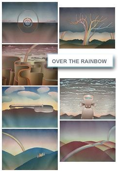 Aguafuerte Y Aguatinta Folon - Over The Rainbow (complet suite)