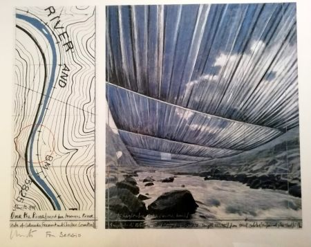 Cartel Christo - Over the river (Project for Arkansas River) Signed