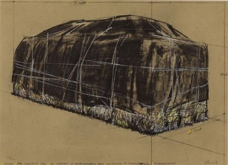 Serigrafía Christo -  PACKED HAY