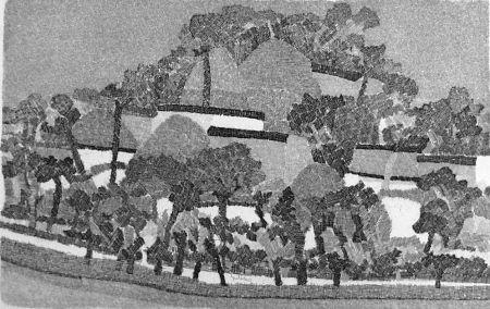 Aguafuerte Gulino - Paesaggio