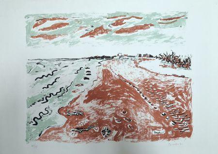 Litografía Tamburi - Paesaggio