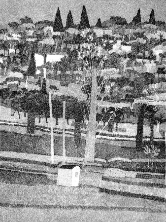 Aguafuerte Gulino - Paesaggio 1983
