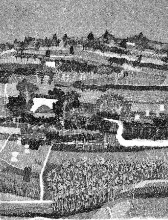 Aguafuerte Gulino - Paesaggio marchigiano