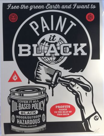 Serigrafía Fairey - Paint it black